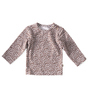 baby t-shirt long sleeved - copper leopard