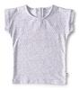 short sleeve girls - grey leopard