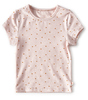 baby girls top - light pink hearts