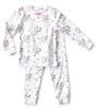 pyjamas girls - flower white