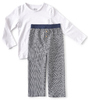 boys pyjama set - checkered grey