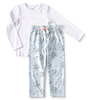 girls pyjama set - flower blue