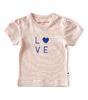 baby girls short sleeve - fluo pink stripe