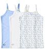 girls singlet 3-pack - blue combi