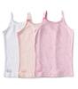girls singlet 3-pack - pink combi