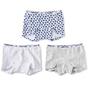 shorts girls 3-pack - blue hearts combi
