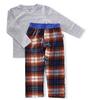 pyjama set boys - blue orange check