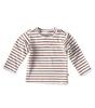 baby t-shirt long sleeved - copper stripe