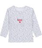 baby long sleeve tee - white dot love