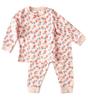 baby pyjamas - pink flowers