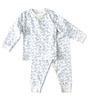 baby pyjamas - dragonfly blue