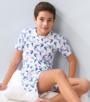 model foto korte baby pyjama wit toekan-print Little Label