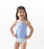 foto meisjes hemden set blue combi Little Label