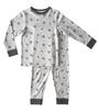jongens pyjama - star almost black - Little Label