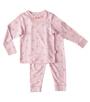 meisjes pyjama - star lilac pink - Little Label