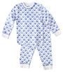 pyjama wit met blauwe walvis print Little Label