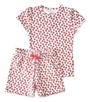 korte pyjama rode aardbeien Little Label