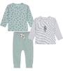 groene baby set 2 tops met baby broekje Little Label