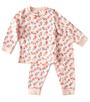 roze baby pyjama bloemen print Little Label