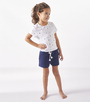 starburst meisjes shirt op navy shorts