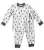 baby pyjama jongens grijs melee met pinguin print Little Label
