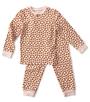 baby meisjes pyjama roze hartjes Little Label